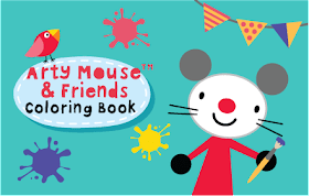 Arty Mouse Coloring Book HTML5 Game