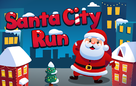 Santa City Run HTML5 Game