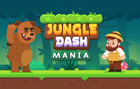 Jungle Dash Mania HTML5 Game