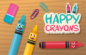 Happy Crayons HTML5 Game