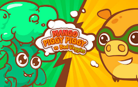 Mango Piggy Piggy vs Bad Veggies HTML5 Game