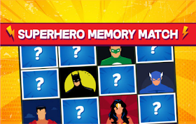 Superhero Memory Match HTML5 Game