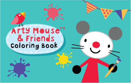 Kids HTML5 Games - Arty Mouse Coloring Book