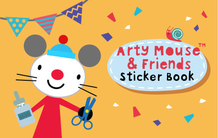 Kids HTML5 Games - Arty Mouse Sticker Book