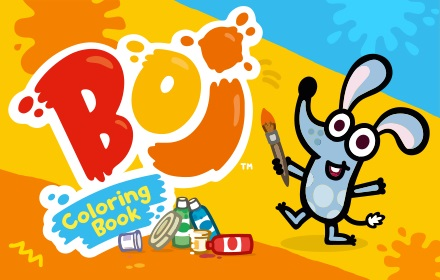 Kids HTML5 Games - Boj Coloring Book