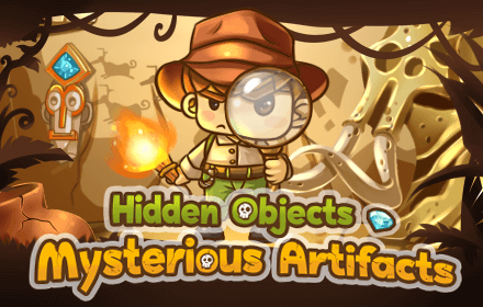 Kids HTML5 Games - Hidden Objects Mysterious Artifacts Game