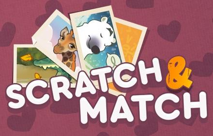 Kids HTML5 Games - Scratch & Match - Animals
