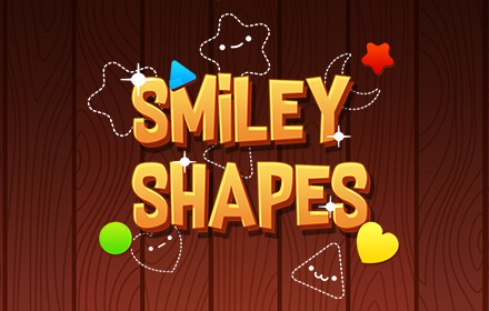 Kids HTML5 Games - Smiley Shapes, A Sticker based HTML5 game