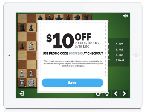 White Label Board Game HTML5 Rewards Coupon Gift Code