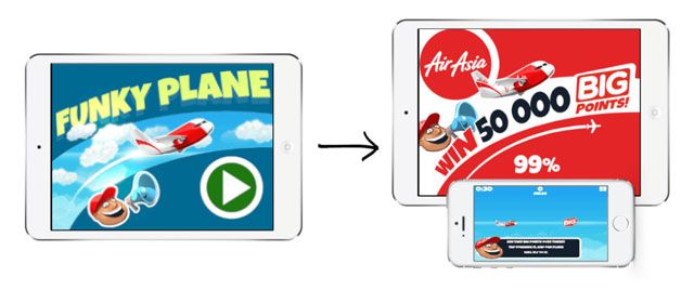 Air Asia HTML5 Game Reskin
